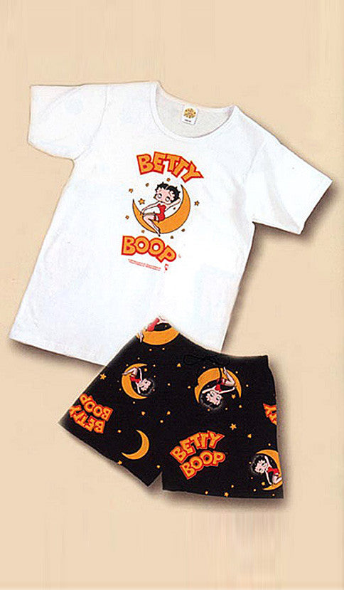Women's Betty Boop Printed T-Shirt and Shorts