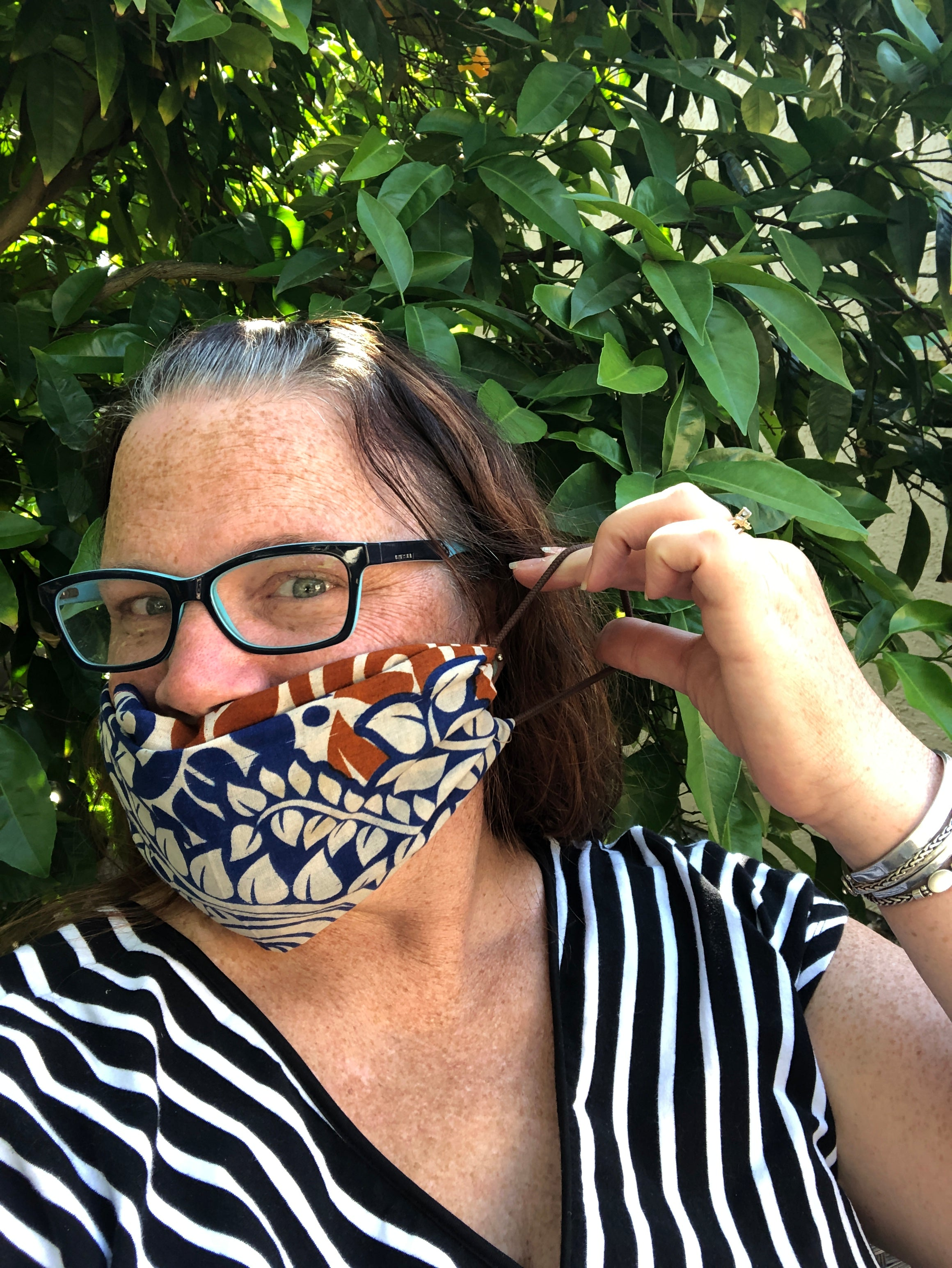 DIY no sew face mask with a bandana fair trade subscription box item from do good shop