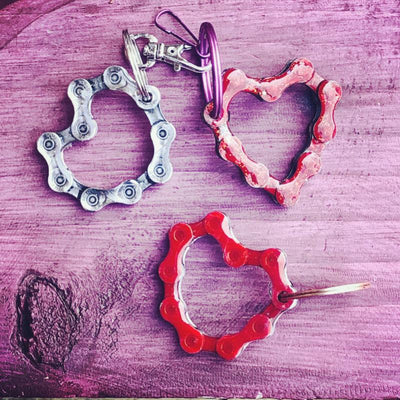 Heart Bike Chain Keyring - do good shop ethical gifts