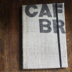 Burlap Upcycled Coffee Bag Journal - do good shop