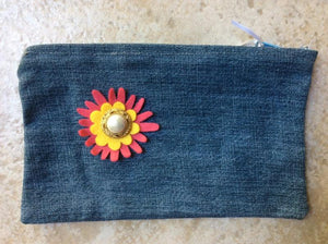 Upcycled Denim Zipper Pouch - do good shop ethical gifts
