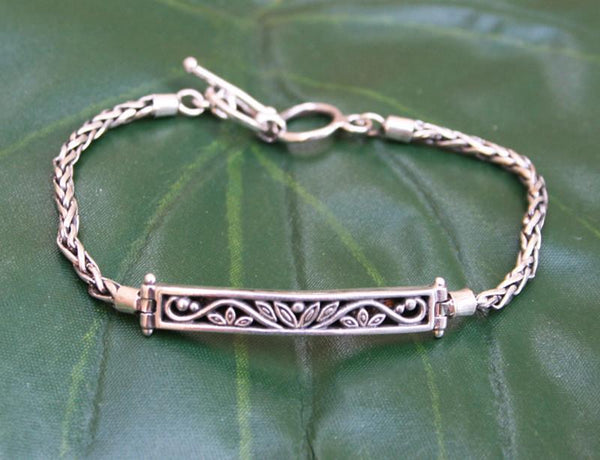 Sterling Silver Bar Design Bracelet (pre-order) - do good shop ethical gifts
