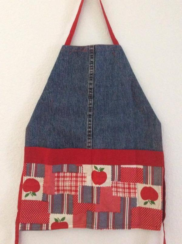 Children's Upcycled Denim Apron