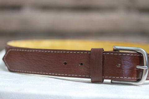 Genuine Leather Belt Brown - do good shop ethical gifts
