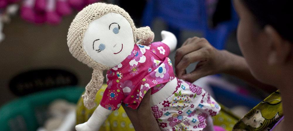 Hand Crocheted Doll - do good shop ethical gifts