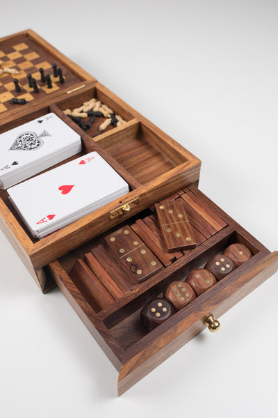 All in One Wooden Game Box - do good shop ethical gifts