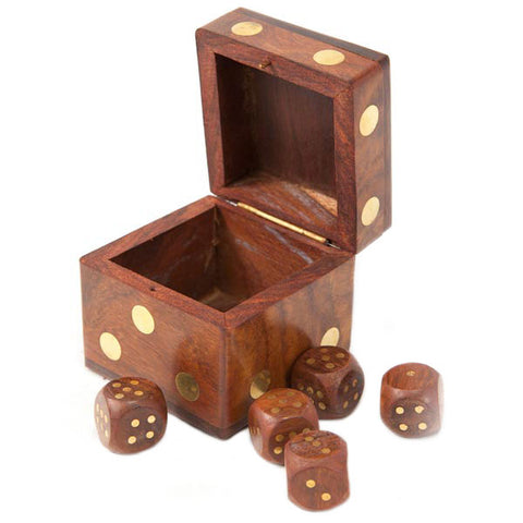 Wooden Dice Box - do good shop ethical gifts