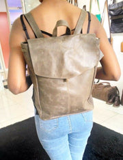 GenuineLeatherhandbagspursesbagswalletsfairtradeartisanmadesoldthroughnonprofitdogoodshop.backpackpurseinbrown
