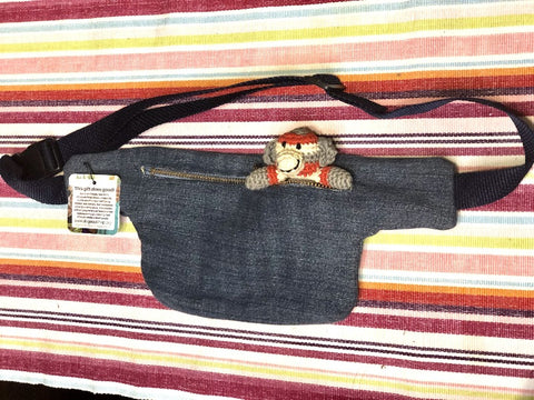 Up-cycled Denim Fanny Pack - do good shop ethical gifts