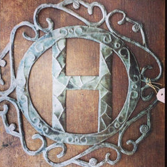 Monogrammed Metal Art - do good shop