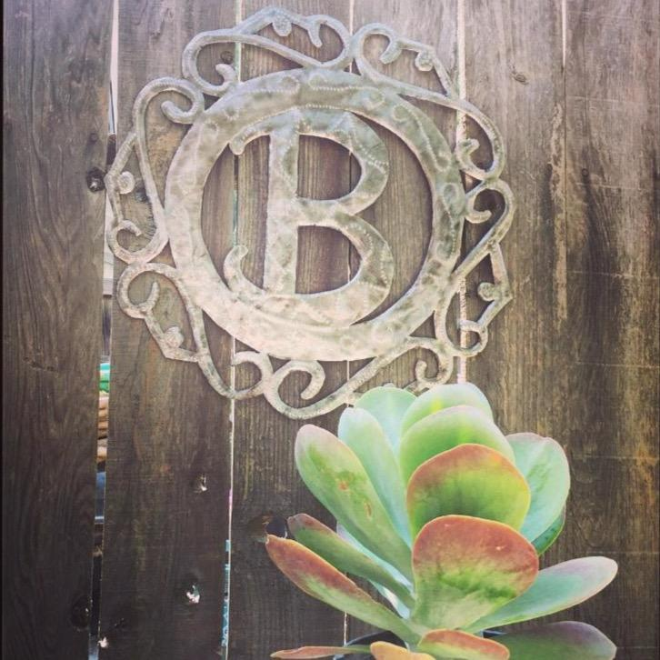Monogrammed Metal Art - do good shop ethical gifts