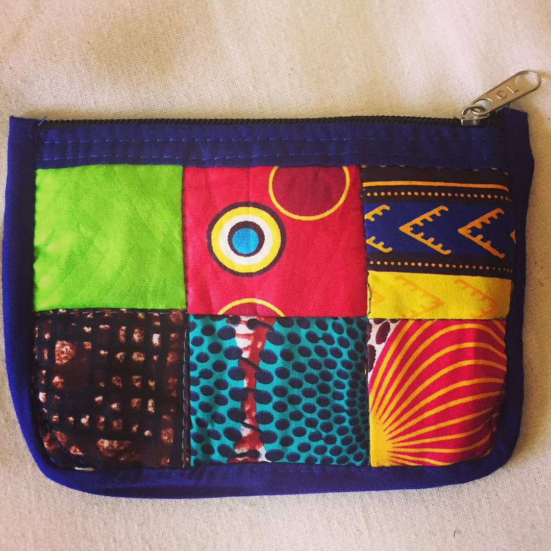 Quilted Kenyan Coin Purse