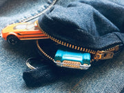 Denim Mini-Backpack Keychain - do good shop ethical gifts