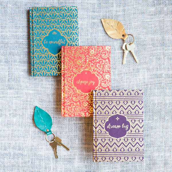 Metallic Message Journals