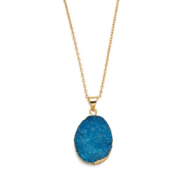 Druzy Quartz Necklace - do good shop ethical gifts