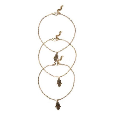 Hamsa Anklet - do good shop