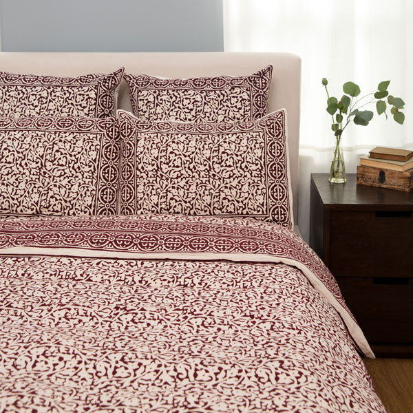 Chain Pattern Handprinted Bedding