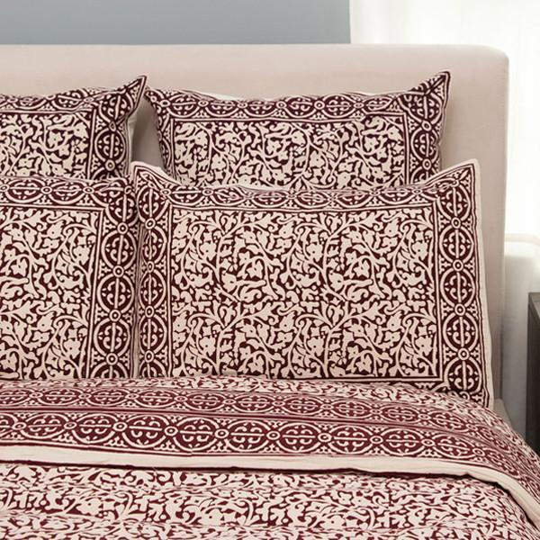 Chain Pattern Handprinted Bedding - do good shop ethical gifts