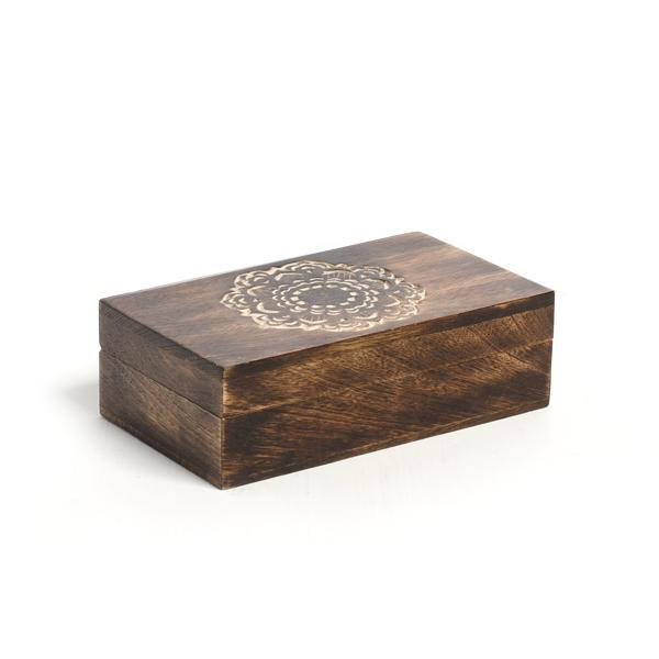 Handcarved Wooden Madala Box - do good shop ethical gifts