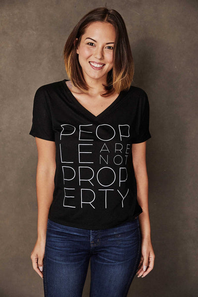 People Are Not Property Tee - do good shop ethical gifts