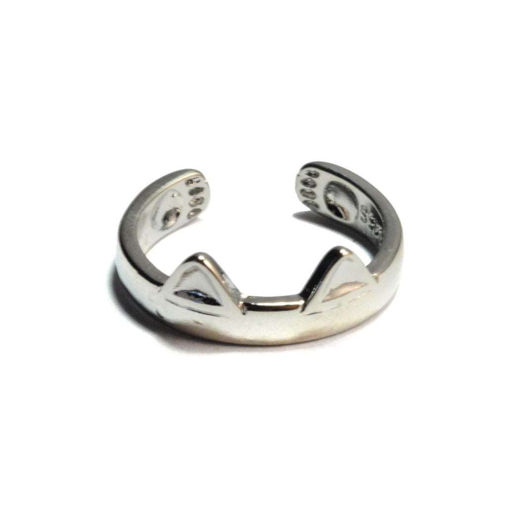 Sterling Silver Kitty Ring