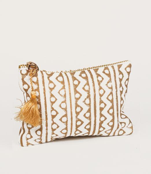 Metallic Block Printed Coin Purse - do good shop ethical gifts