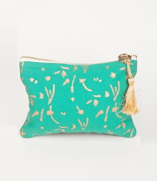 Metallic Block Printed Coin Purse