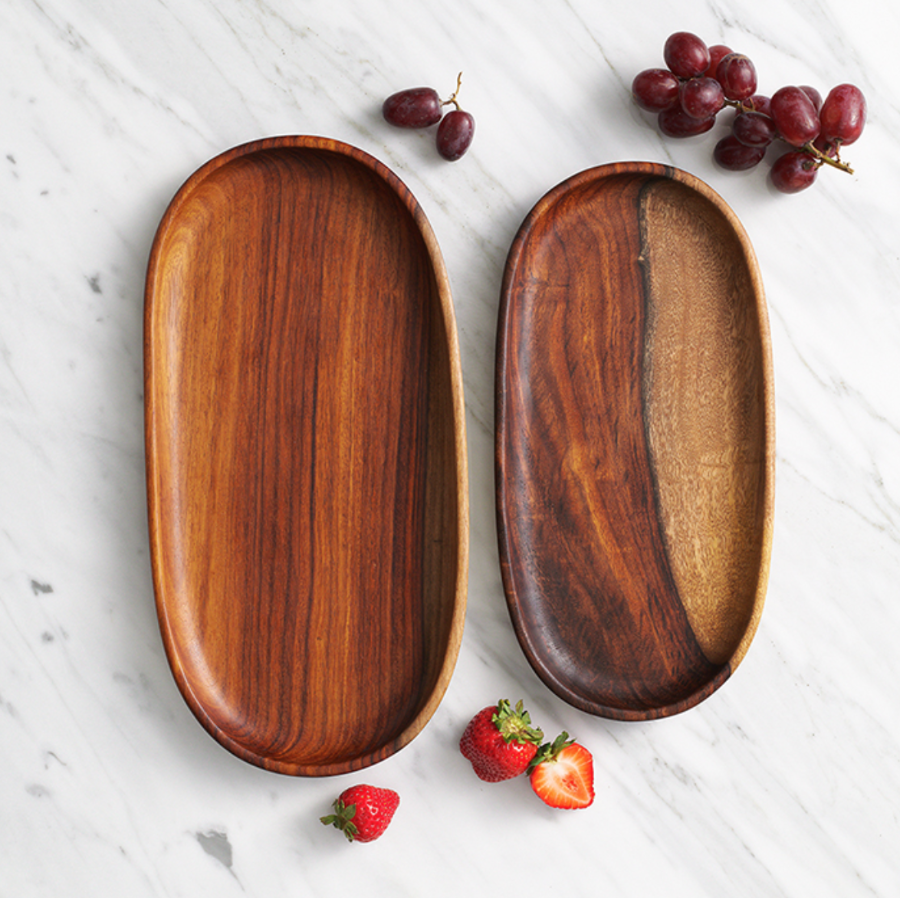 Oval Wooden Serving Trays - do good shop ethical gifts