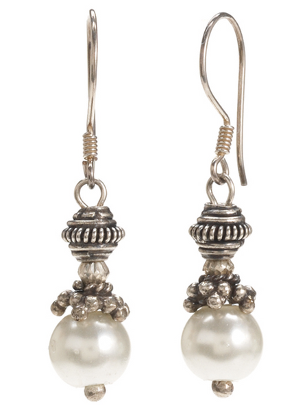 Genuine Pearl Dangle Earrings