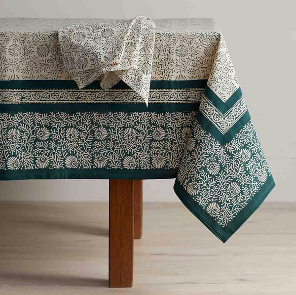 Hand Block Printed Tablecloth (pre-order)