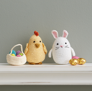 Bunny, Chick and Egg Basket Trio - do good shop ethical gifts