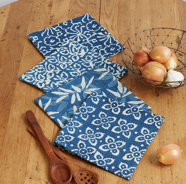 Handprinted Cloth Napkins (set of 4) - do good shop ethical gifts