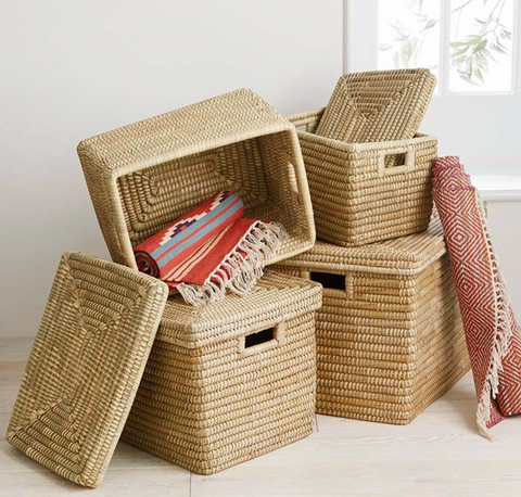 Handwoven Nested Storage Basket Set - do good shop ethical gifts