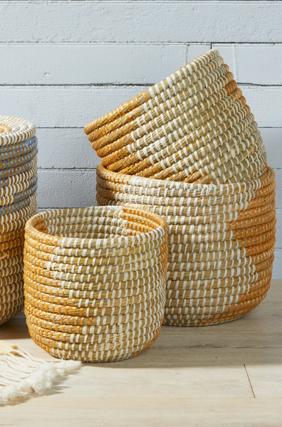 Seashore Nesting Baskets (pre-order) - do good shop ethical gifts