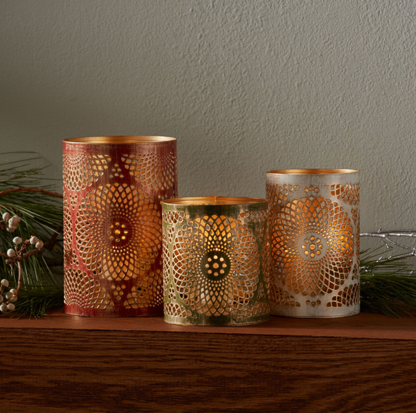 Trio of Holiday Lanterns - do good shop ethical gifts