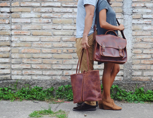 Leather Laptop Messenger Bag & Briefcase - do good shop ethical gifts