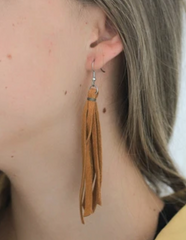 Leather Fringe Earrings - do good shop ethical gifts