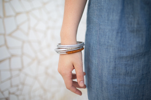 Aluminum Bangle Set - do good shop ethical gifts