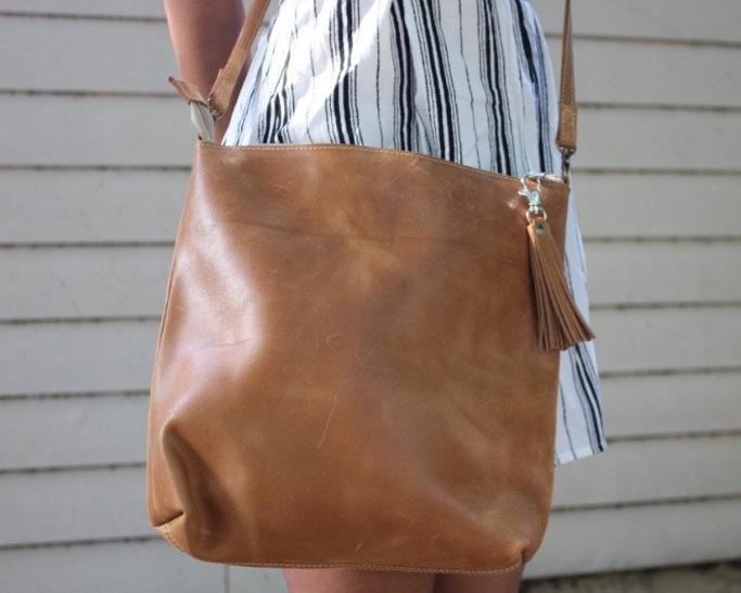 Leather Crossbody Bag - do good shop ethical gifts