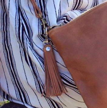 Leather Tassel Zipper Pull Keychain - do good shop ethical gifts