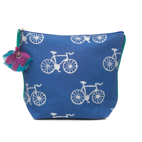 Metallic Block Print Cosmetic Bag - do good shop ethical gifts