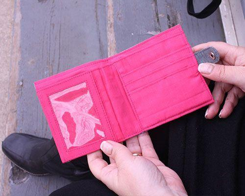 Square Slimline Cotton Wallet