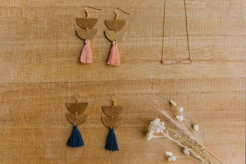 brass.tassel.earrings.navy.handmade.by.women.artisan.quality.sold.at.do.good.shop.ethical.gifts.jewelry.rose.brave.bar.necklace