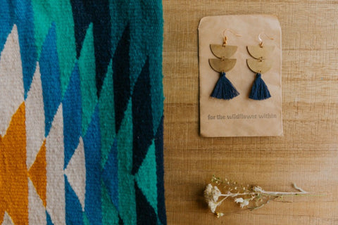 brass.tassel.earrings.navy.handmade.by.women.artisan.quality.sold.at.do.good.shop.ethical.gifts.jewelry.purses.woven.textile.leather
