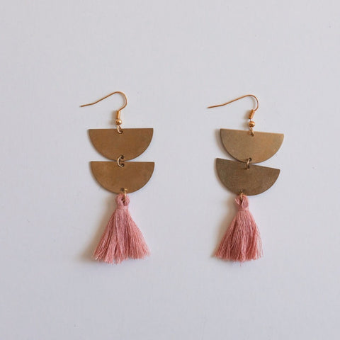 brass.tassel.earrings.pink.rose.handmade.by.women.artisan.quality.sold.at.do.good.shop.ethical.gifts.jewelry