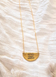 black.lives.matter.gold.brass.necklace.luna.half.moon.woman.made.artisan.ethical.jewelry.for.do.good.shop