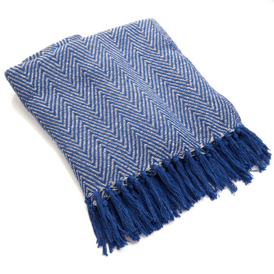 blanket.eco.friendly.blue.chevron.fair.trade.ethically.made.sold.at.do.good.shop