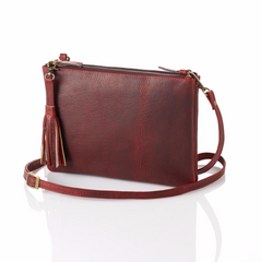 Burgundy Crossbody Purse - do good shop ethical gifts