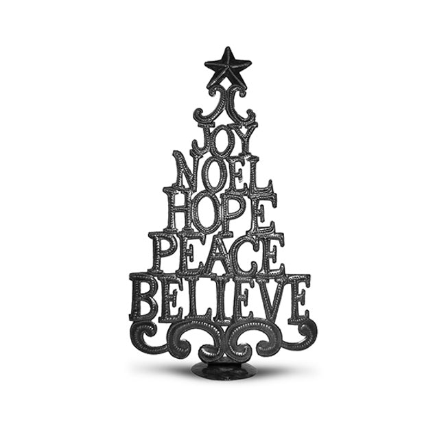 Metal Christmas Tree Word Art