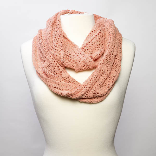 Lucia Crochet Infinity Scarf